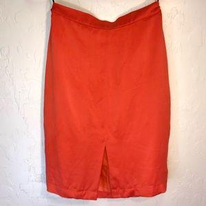 A.B.S. 100%silk vintage orange skirt made in U.S.A